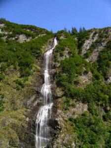 long thin waterfall