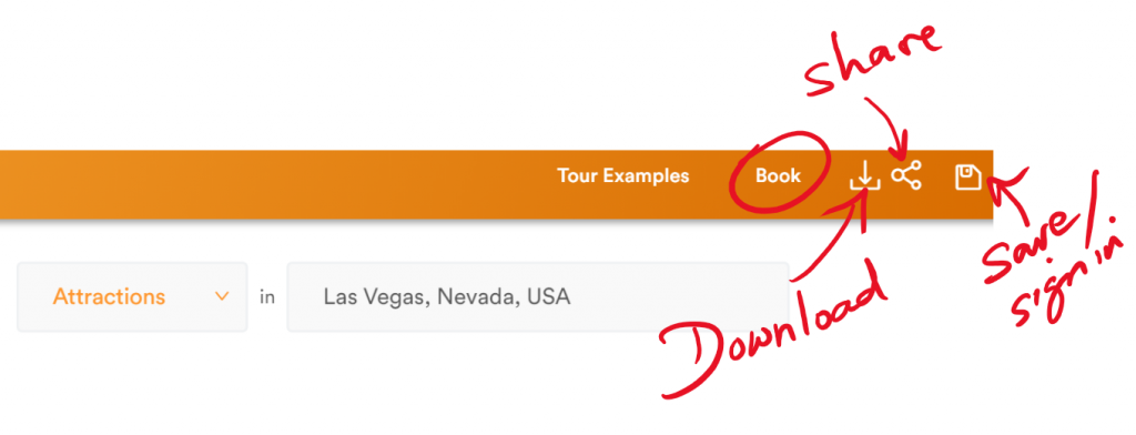 Download, share, and/or save your itinerary