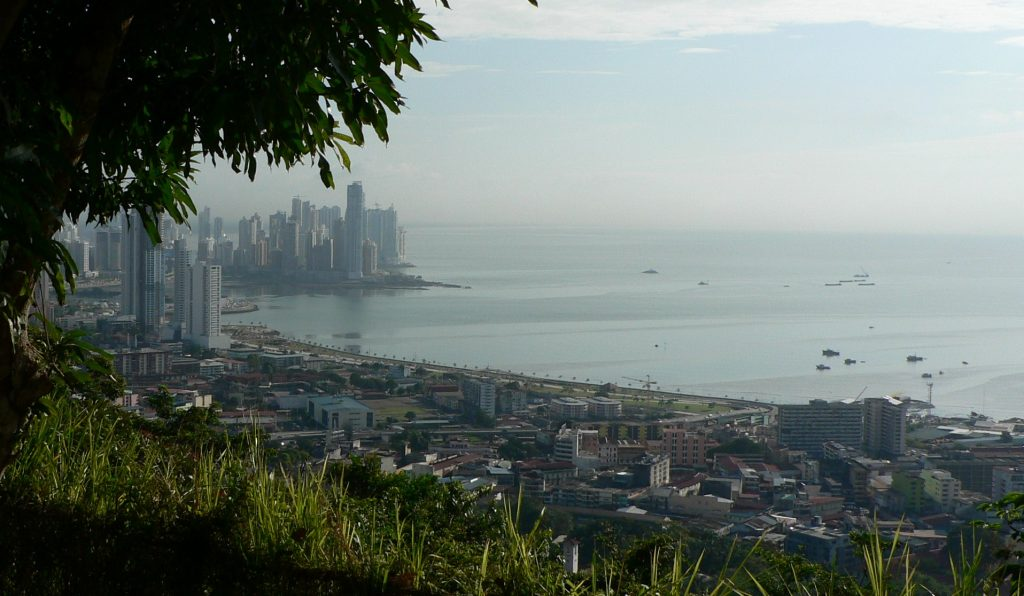 View from Cerro Ancon of Panama City skyline