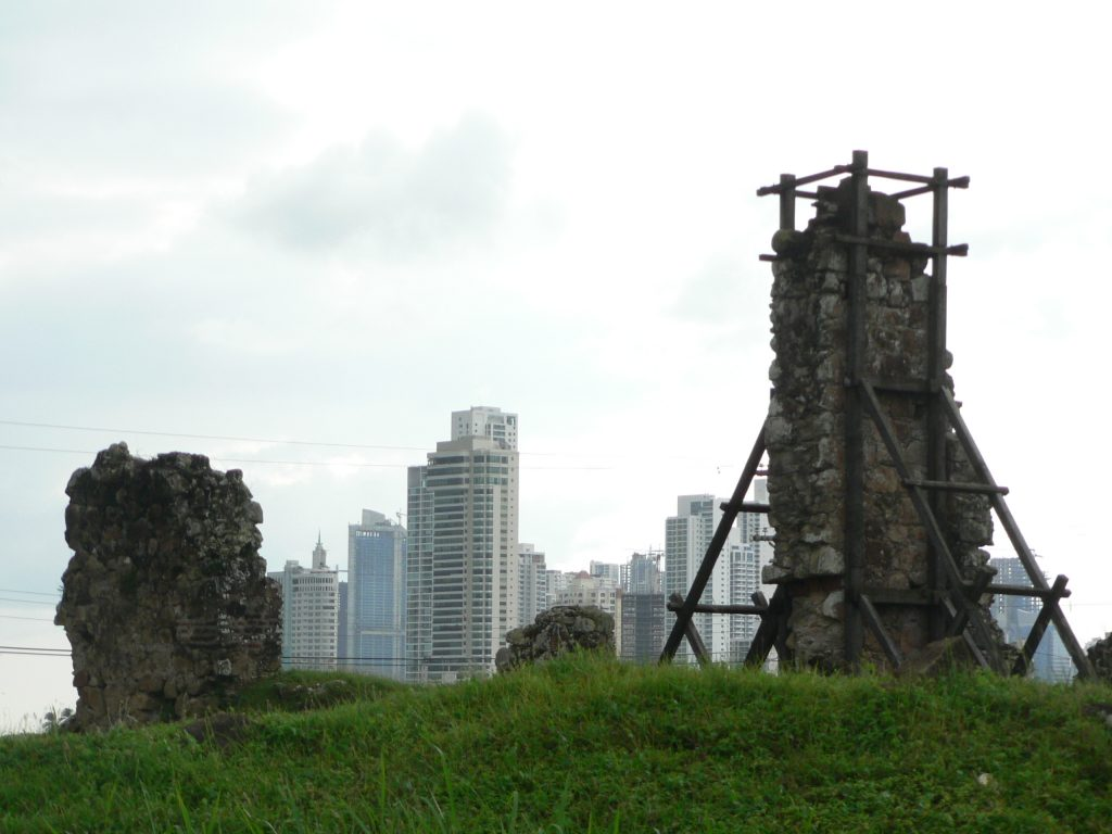 Panama Viejo Historical Monument: The old and the new Panama City