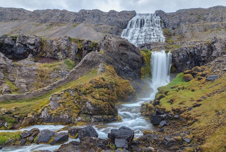 cascade waterfall and stream