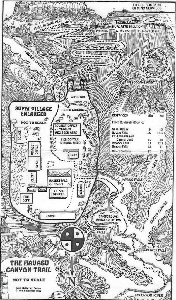 Map of Havasupai