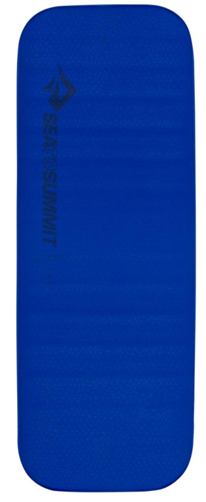 Blue inflatable sleeping pad